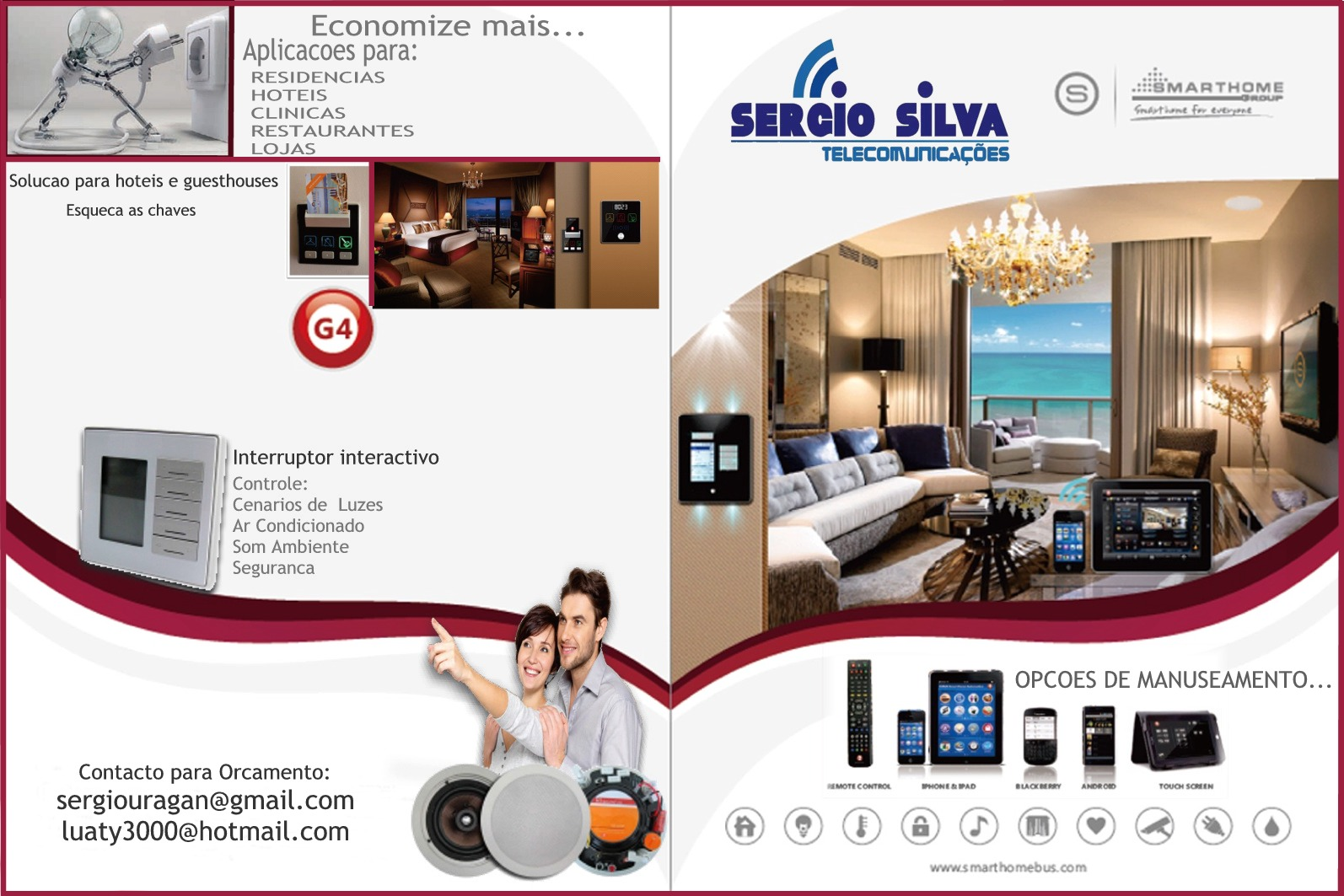smart bus home automation technology portuguese catalogues. Black Bedroom Furniture Sets. Home Design Ideas