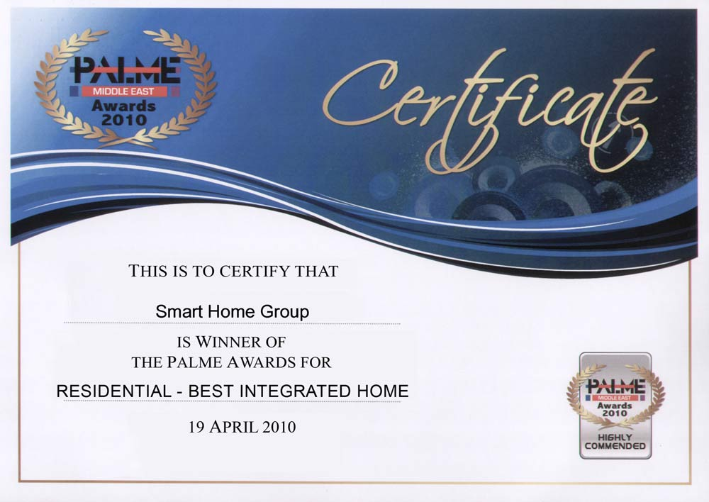 Smart Bus Home Automation Technology Certifications