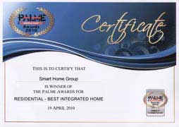 Smart-Bus Palme 2010 - Best Integrated Home