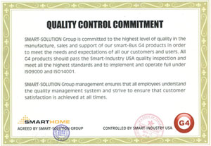 Smart Home Group Quality Control Commitment