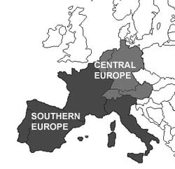 Southern and Central Europe