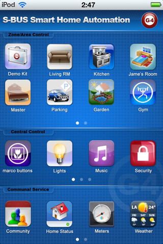 Smart Home Control G4-SBUS (For Iphone, Ipad, Ipod)